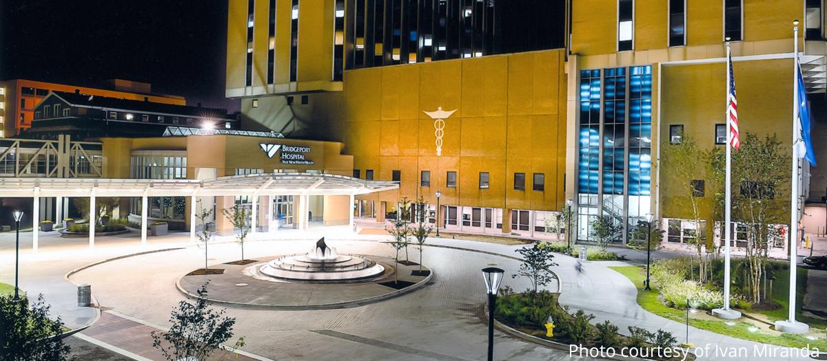 Bridgeport Hospital Entrance Plaza in Bridgeport, CT