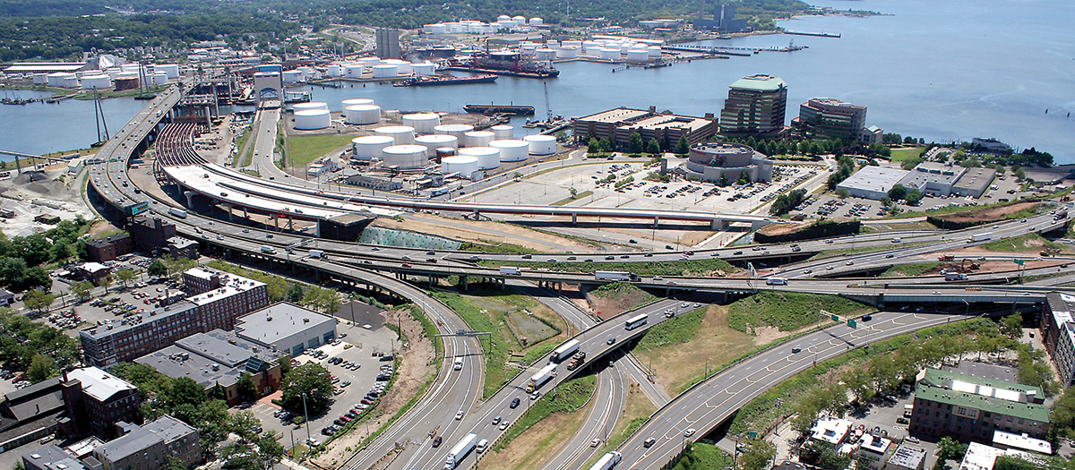 I-95 / I-91 / Route 34 Interchange in New Haven, CT