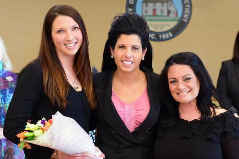 O&G Vice-President Kara Oneglia pictured with Northwest CT Chamber of Commerce Women's Leadership Initiative Committee Co-Chairs Kara Paganini-Muth and Cailin Cerruto.
