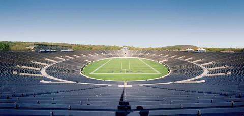 The Yale Bowl in New Haven, Connecticut