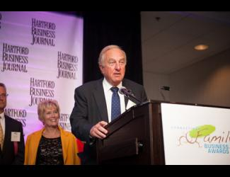 Ray Oneglia speaks at the Hartford Business Journal's Family Business Award ceremony