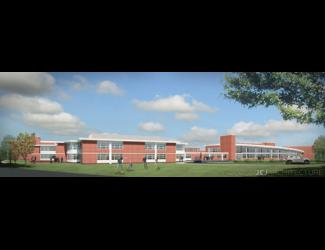 Saxe Middle School Renovation & Expansion Rendering
