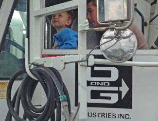 "O&G sponsors ""Touch a Truck"" event in Danbury, CT."